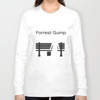 """forrest gump Long Sleeve T-shirts featuring Film """"Forrest Gump"""" by Patricia Calzado"""