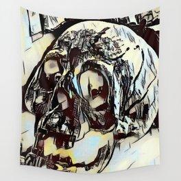 Metal Paper Skull Wall Tapestry