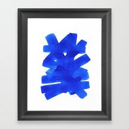 Superwatercolor Blue Framed Art Print
