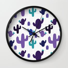 Cactus purple #homedecor Wall Clock