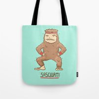 sasquatch Tote Bags featuring Sasquatch by Darel Seow