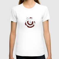 shield T-shirts featuring Cap's Shield by George Hatzis