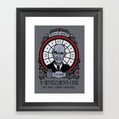 Seven of Hearts 2012 update Framed Art Print