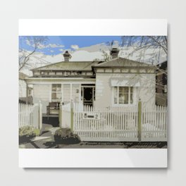 Melbourne Double Fronted Victorian  Metal Print