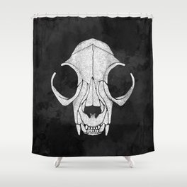 Felis Mortis - Dead Cat Shower Curtain