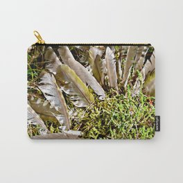 Grey-headed woodpecker feathers - Life goes on Carry-All Pouch