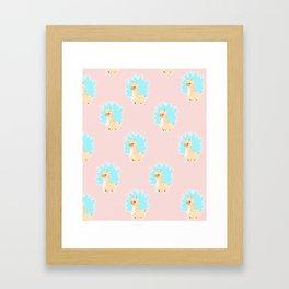 Super alpaca Framed Art Print
