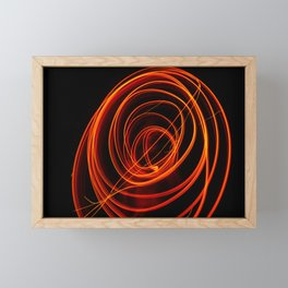Null and void symbol, Fire Long exposure Photography Framed Mini Art Print