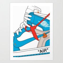 Jordan 1  Of White Poster Art Print