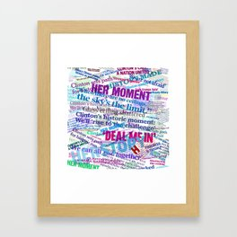 Hillary 2016 Abstract Headline Collage Framed Art Print