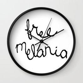 Free Melania Black Wall Clock