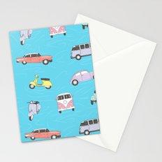 Vintage cars and vespa Stationery Cards