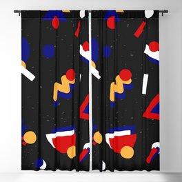 Memphis Design Pattern Blackout Curtain