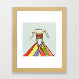 dog jump Framed Art Print