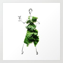 Edible Ensembles: Kale Art Print