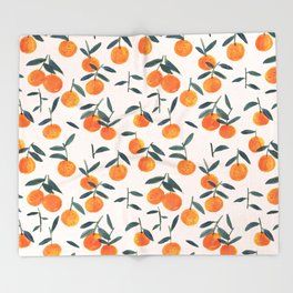 Clementines Throw Blanket