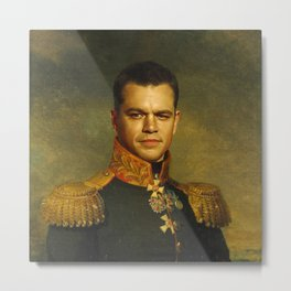 Matt Damon - replaceface Metal Print