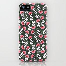 Camelita Retro Folk Flower iPhone Case