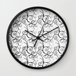TRELLIS AND VINES PATTERN Wall Clock