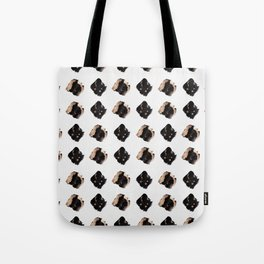 Black and gold diamond pattern Tote Bag