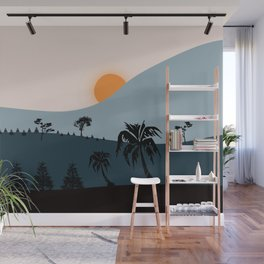 Trees are Going to Sleep #illustration #minimal Wall Mural