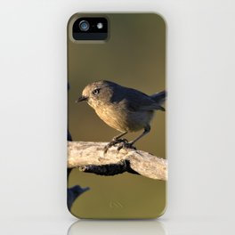 Wrentit in the Coastal Scrub by Reay of Light iPhone Case