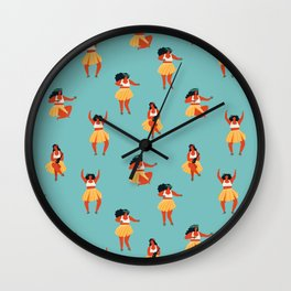 Hula dancers Wall Clock