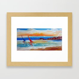 Sailing the Indian Ocean Framed Art Print