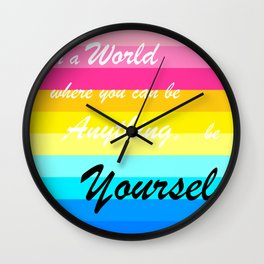 Be Yourself - Pansexual Wall Clock
