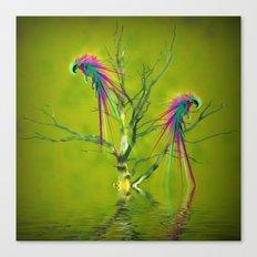 Fantasy Parrots Canvas Print