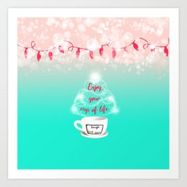 Christmas cup of joy 2 Art Print