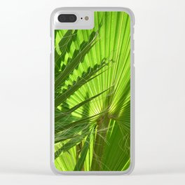 Shades of Palm Leaves Clear iPhone Case