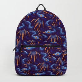 Mr Snake in the Rainforest - Blue Orange Backpack