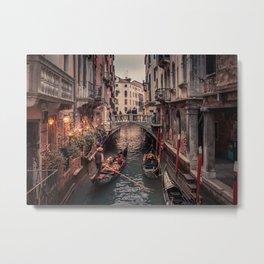 A Gondola Ride in Venice Metal Print