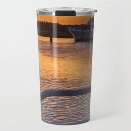 Boat Side Sunset Travel Mug