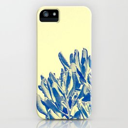 Beach tree against a yellow sky iPhone Case