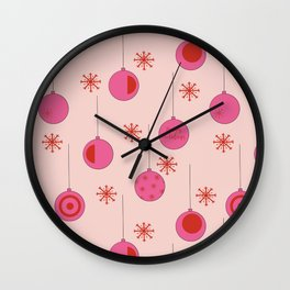 Christmas ornament pattern Wall Clock