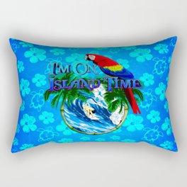 Blue Flowers Island Time Surf Rectangular Pillow