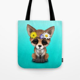 Cute Baby Fox Hippie Tote Bag