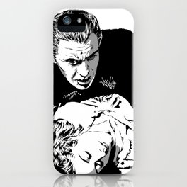 The Terrifying Lover (Mono) iPhone Case