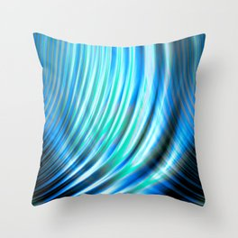 Rolling Wave Forms (blue) Throw Pillow
