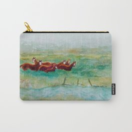 Wild Horse Band by Creek watercolor by CheyAnne Sexton Carry-All Pouch