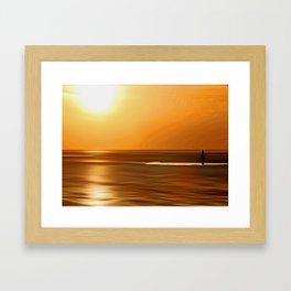 Gormley Iron Man (Digital Art) Framed Art Print
