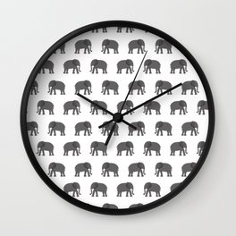 Water for elephant Wall Clock
