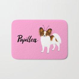 Papillon (Pink) Bath Mat
