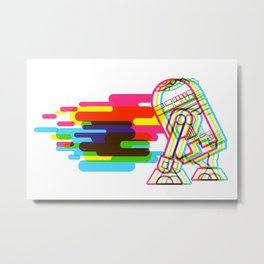 Technicolor R2D2 Metal Print