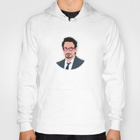 robert downey jr Hoodies featuring Robert Downey Jr/IronMan by William Dowling