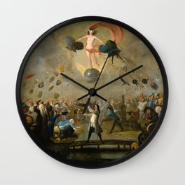 Allegory of Fortune by Balthazar Nebot, 1730 Wall Clock