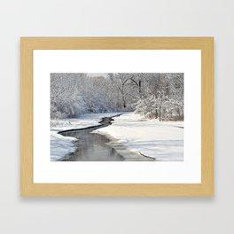 A quiet walk  Framed Art Print