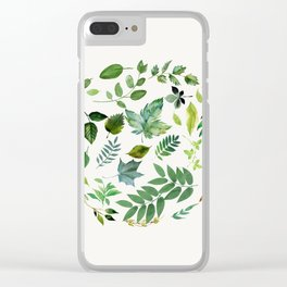 Circle of Leaves Clear iPhone Case